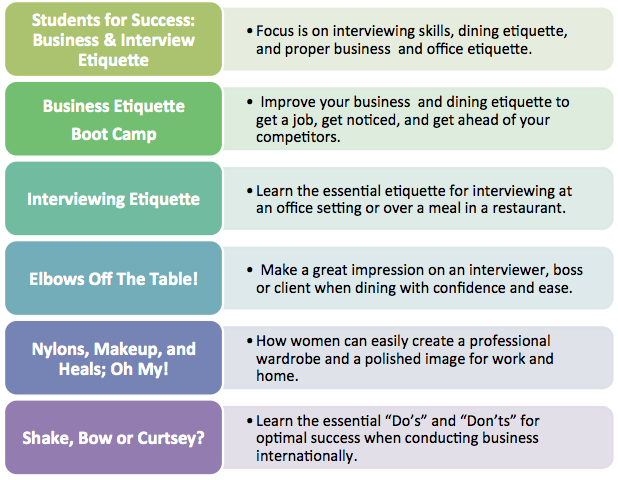 """students etiquette in university When you hear the words """"dining etiquette,"""" what an expert who has coached students and business people on from michigan state university."""