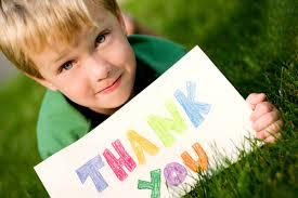 Kid saying thank you