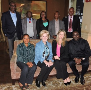 Aimee and Laurie with Nigerian Executives